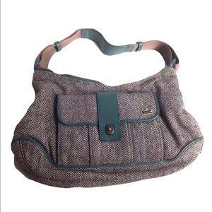 Vintage LACOSTE Houndstooth Wool Purse Handbag